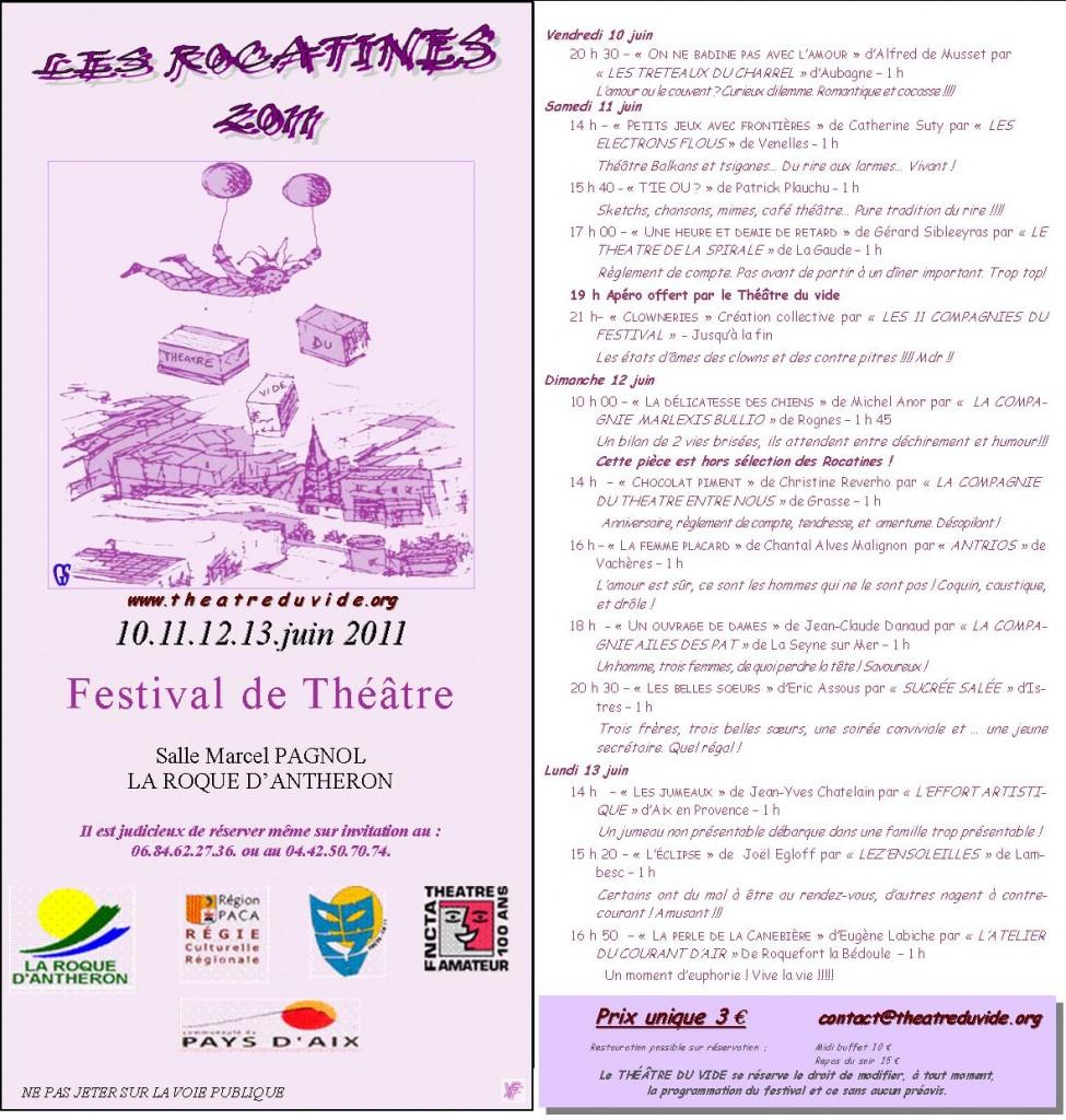 Programme des Rocatines 2011